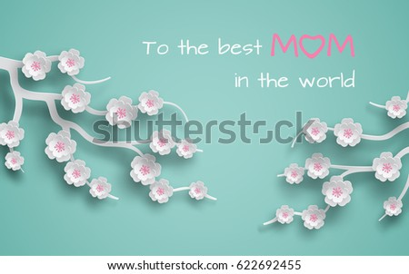 floral background decorated
