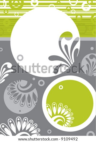 Floral background. Design element.