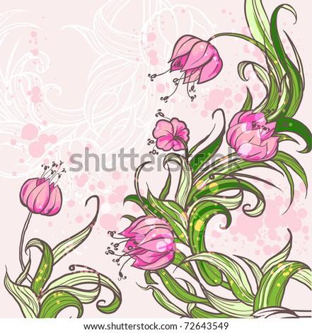 Floral background eps10