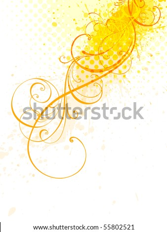 floral background, EPS 10, vector, floral style