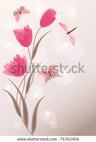 Floral background. EPS10. Vector illustration.