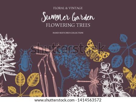 floral background flowering