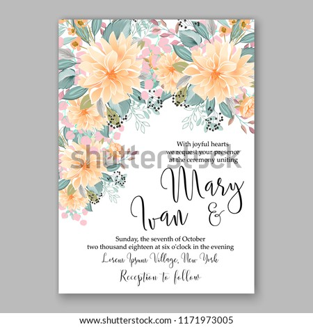 Floral background for wedding invitation, baby shower invitation, christmas party invitation, bridal shower invitation, greeting card, floral clip art vector illustration