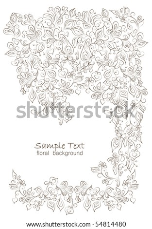 floral background of the various elements