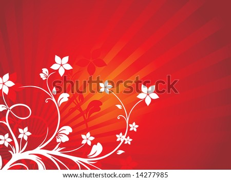 floral wallpaper vector. stock vector : floral