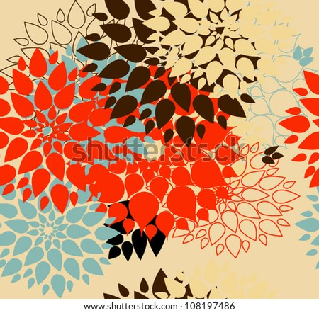 Floral background. Summer colour. Seamless floral pattern with stylized flower