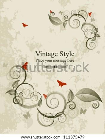 floral background template vector illustration