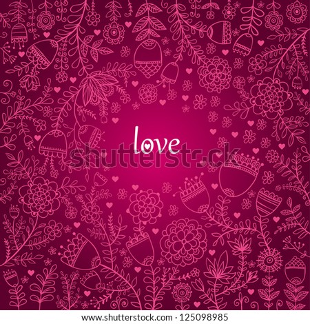 Floral Background. Valentine texture with flowers.