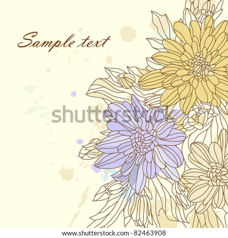Floral background (vector eps 8)