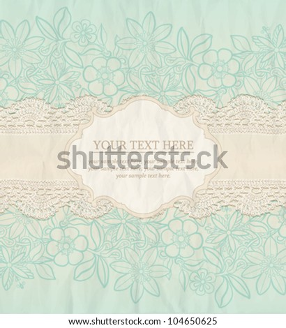 Floral Background. Vector greeting card, invitation template