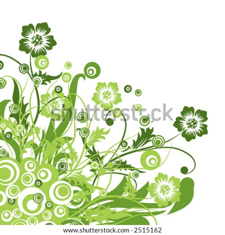 Floral background, vector illustration - stock vector