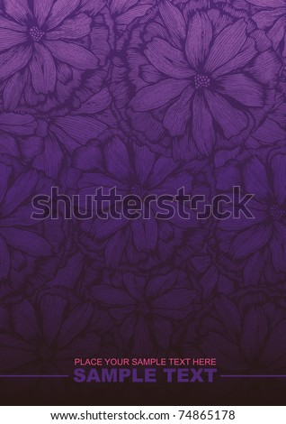 Floral background. vector illustration - stock vector
