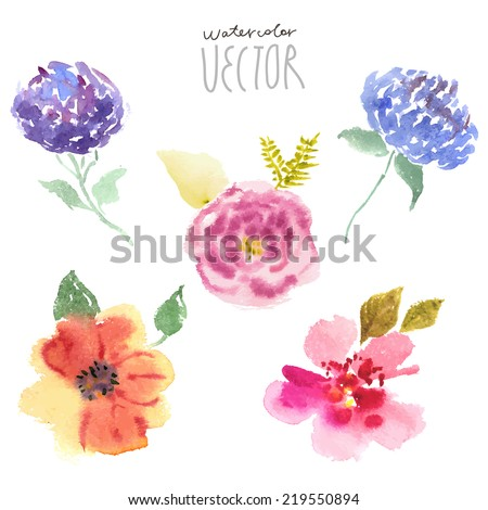 floral background  watercolor