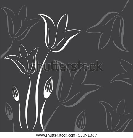 floral background with abstract