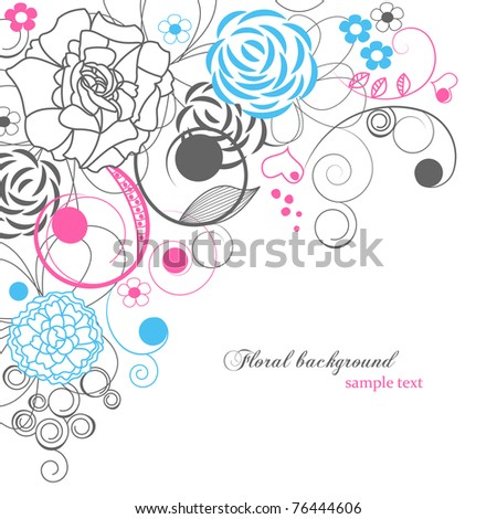 Floral background with copy space