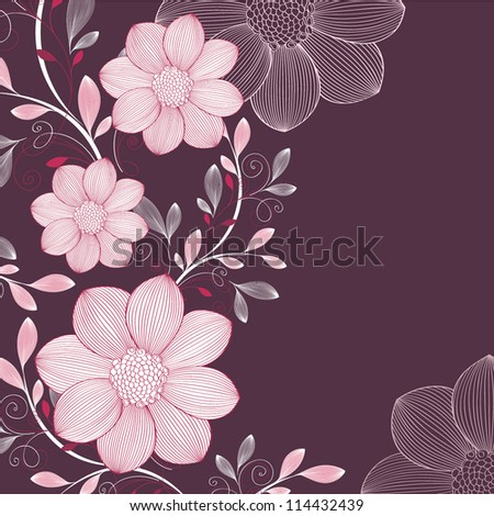 vector-floral-background-with-flower-dahlia-element-for-design-vector ...