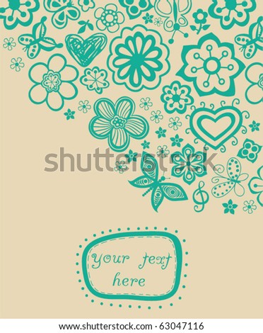 floral background with frame for your text