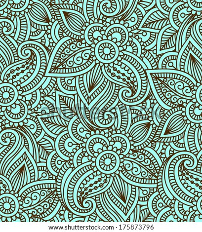 Beautiful Floral Paisley Seamless EZ Canvas Classy Indian Design Patterns