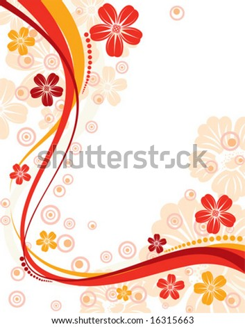 flowers background designs. vector : Floral ackground