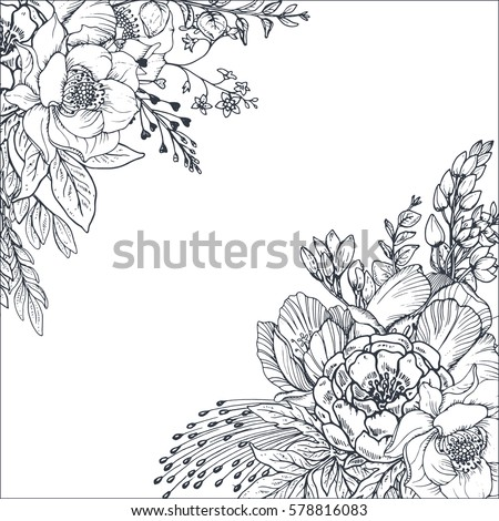 floral backgrounds with hand