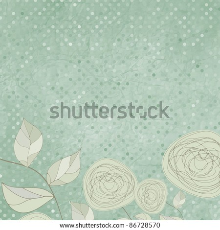 Floral backgrounds with vintage roses. EPS 8 vector file included