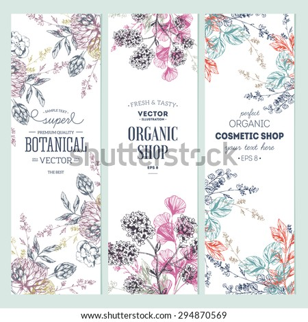 floral banner collection
