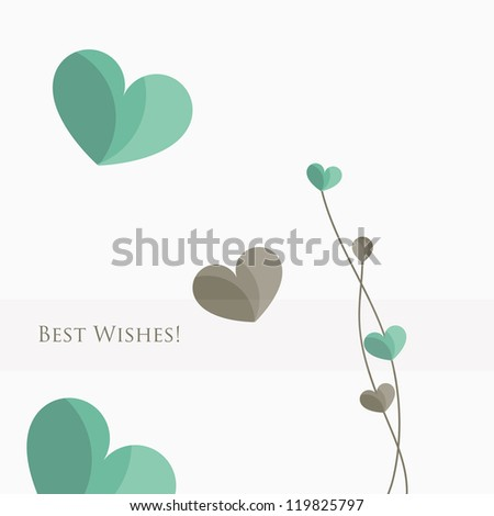 Floral 'best wishes' greeting card.