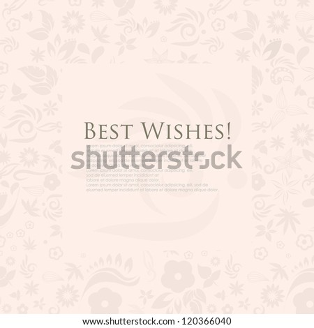 Best wishes greeting card download free vector art stock graphics floral best wishes greeting card vector eps10 m4hsunfo