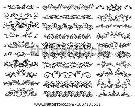 floral borders or dividers