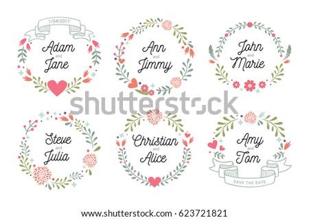 floral bridal shower frames
