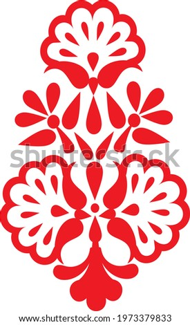 Floral buti motif in printing, embroidery, and weaving for textile designing: Vector  Zdjęcia stock ©