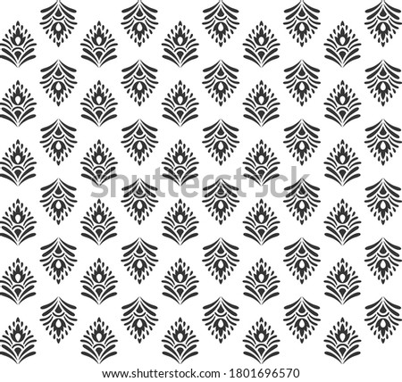 floral  buti pattern for textile print and texture background or tiles and home decor Zdjęcia stock ©
