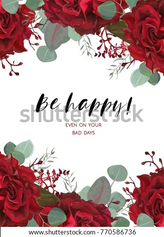 floral card design with vector