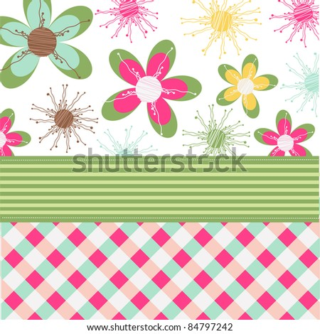 floral card, greeting card