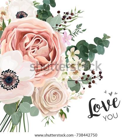 floral card vector elegant