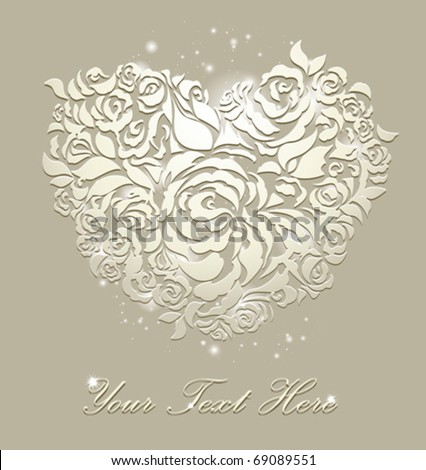 stock vector floral card wedding backgrounds