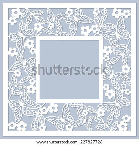 floral card with butterfly Foto d'archivio ©
