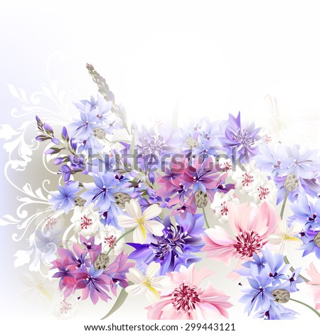 floral clear background  blue