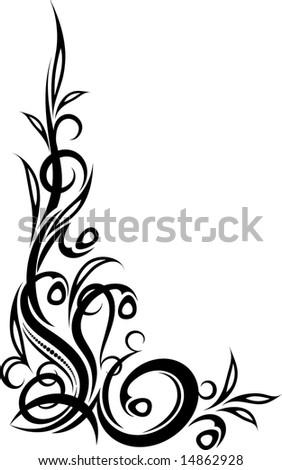 Clip art of element for design corner flower vector 1525r 143392 - Corner Clipart And Stock Illustrations 25801 Corner Vector