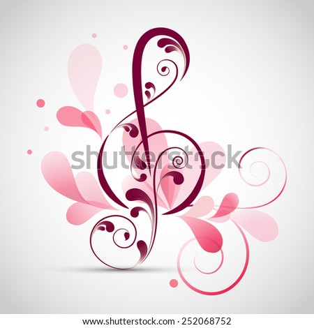 floral decorated musical sign