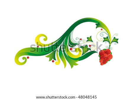 Floral decoration. Bunch of grapes