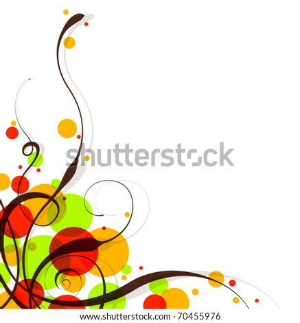 floral decoration vector background, ornate element for summer design