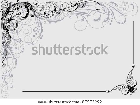 Floral decorative design.Background retro floral ornamental design.Each of elements can easily regroup.