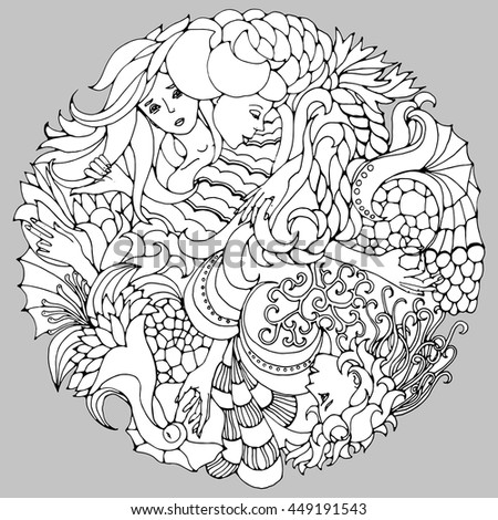 floral decorative element with