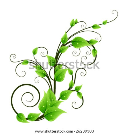 Floral design element - stock vector