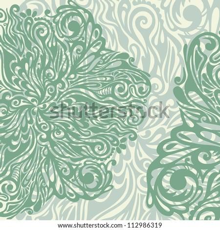 floral design element vintage