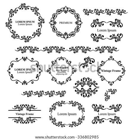 Ornamental wedding decoration elements vector choice image wedding royalty free design elements vintage royalty frames 343302809 floral design elements set ornamental vintage frames borders junglespirit Choice Image