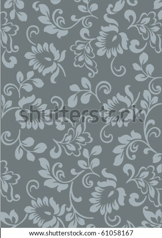 floral design on gray background