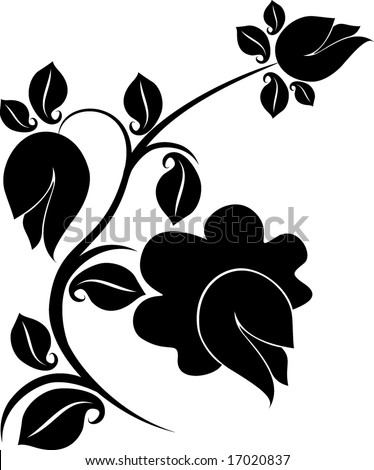 stock vector Floral design tattoo