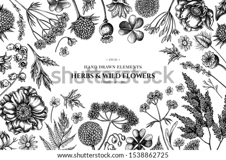 floral design with black and
